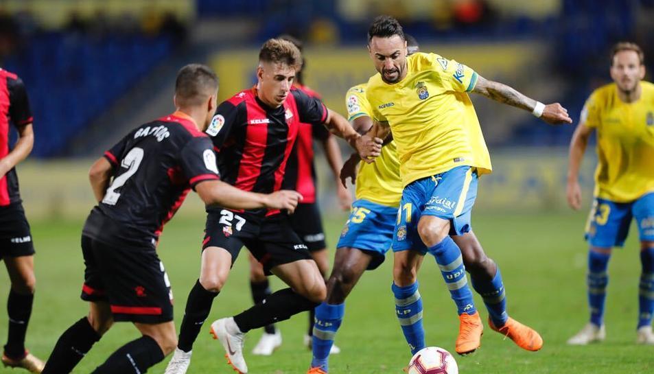 Imatge del partit de diumenge contra la Unión Deportiva Las Palmas.