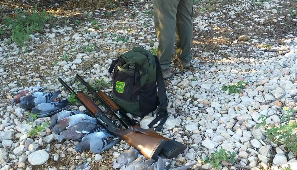 Els Agents Rurals estan duent a terme inspeccions de caça en motiu de l'inici de la mitja veda.