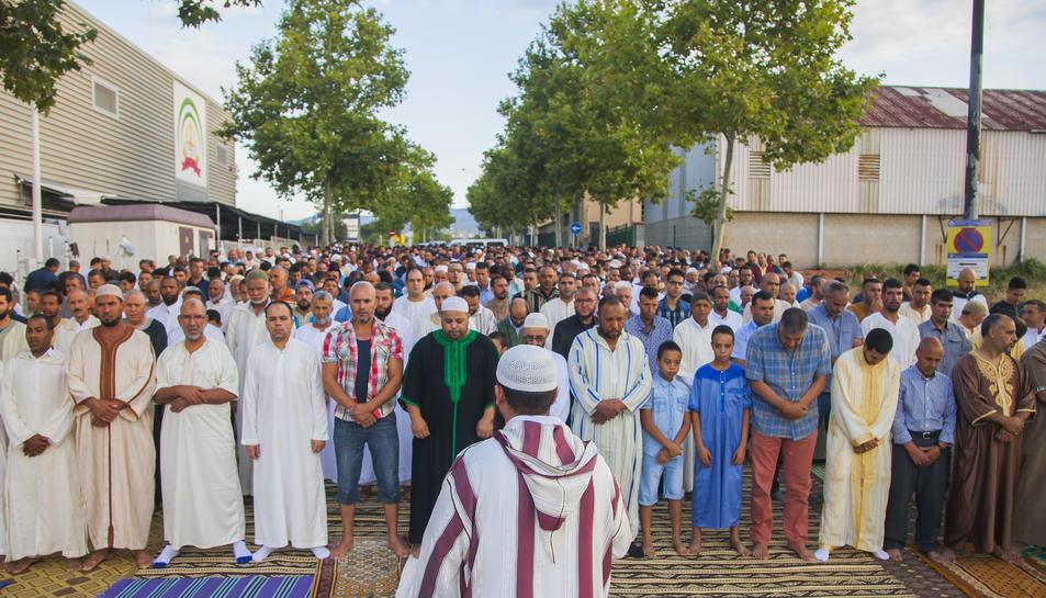 L'oració per la celebració de l''Aid al Adha' va tenir lloc a la mesquita As-Sunnah ahir al matí.
