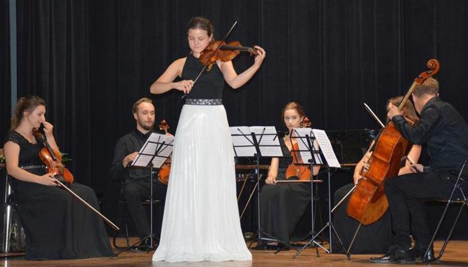 Inés Issel, durant la seva participació en el concurs internacional celebrat a Polònia la setmana passada.