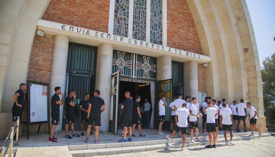 GALERIA: Els jugadors visiten el Santuari del Loreto