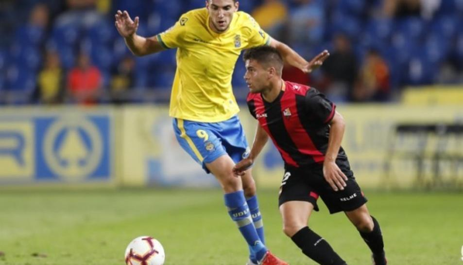 Imatge del partit entre el Reus Deportiu i la UD Las Palmas.