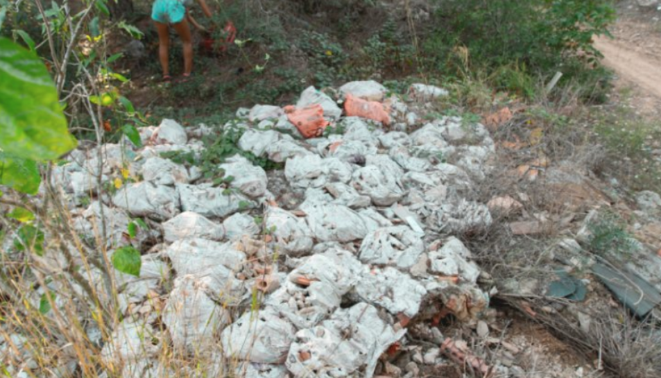 Imatge de la brossa acumulada al descampat del barri de Boscos.