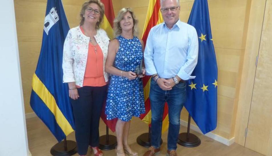 L'alcalde de Salou, Pere Granados, i la regidora