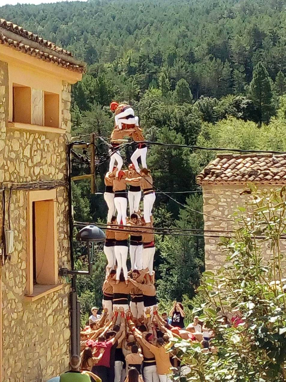 Els Xiquets de Reus participen cada any a la festa de la Febró.