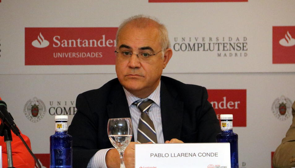 Pla mig del magistrat del Suprem Pablo Llarena com a ponent als cursos d'estiu de la Complutense.