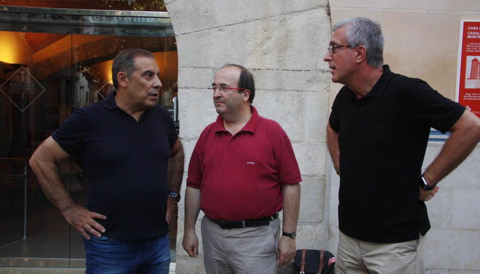 Josep Masdeu, Miquel Iceta i Josep Fèlix Ballesteros el 2016.
