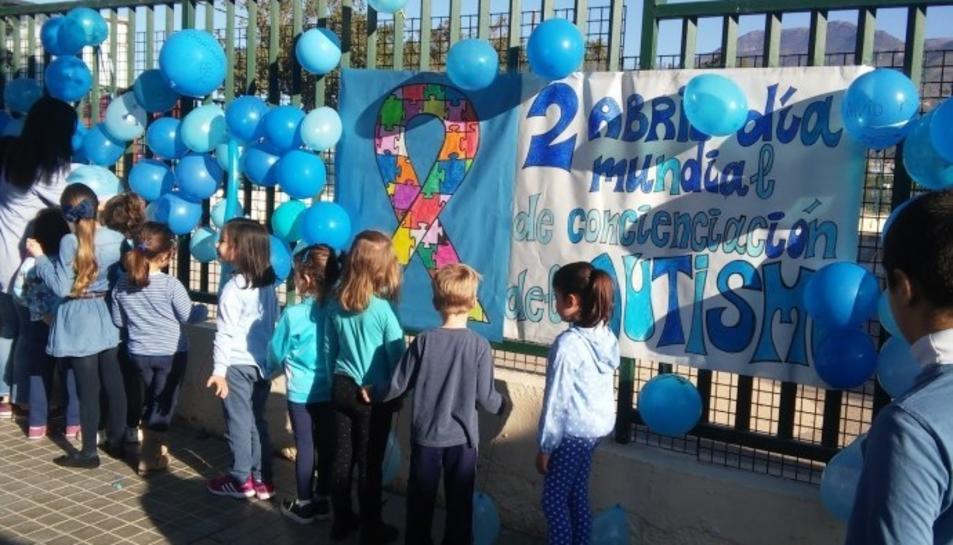 Imatge de la celebració del Dia Mundial de l'Autisme.