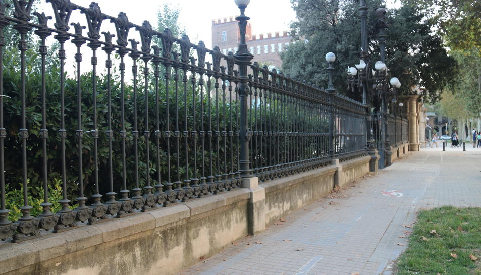Pla general de la reixa del Parc de la Ciutadella.