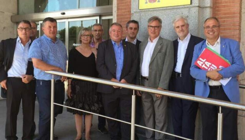 Els alcaldes del Pacte de Berà.