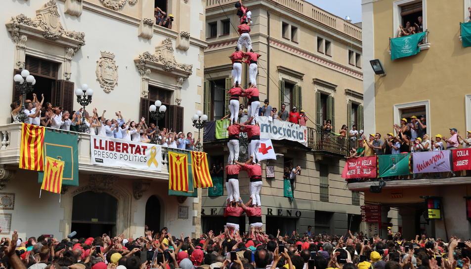 Imatgde del 4 de 9 sense folre de la Colla Vella dels Xiquets de Valls.