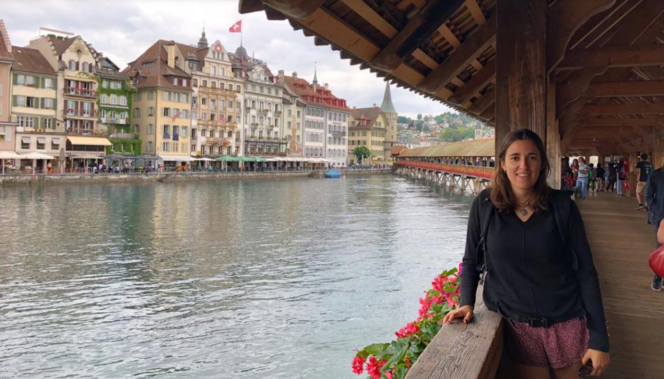 Imatge de la Júlia Ferré a la ciutat de Luzern, també a Suïssa.
