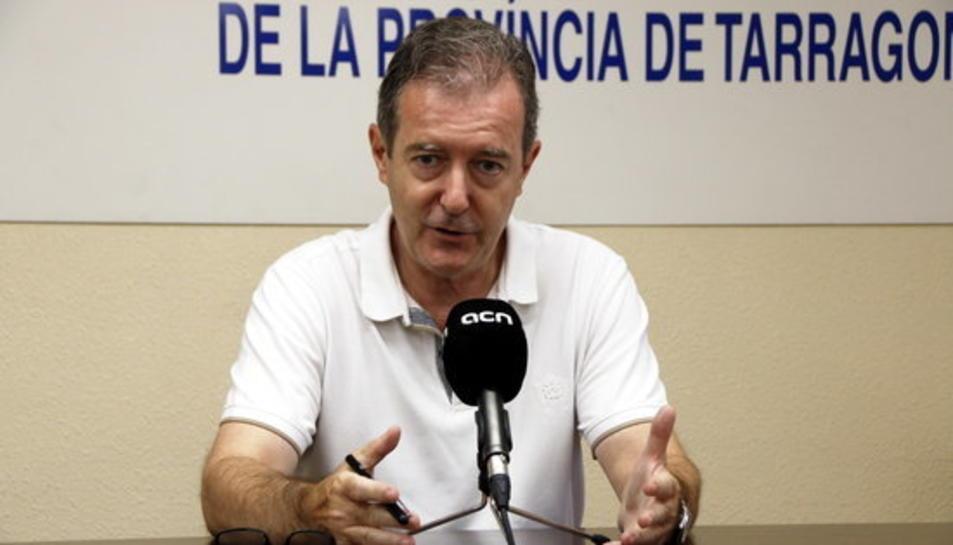 El drector de la Federació d'Auto Transports de la província de Tarragona (FEAT), Josep Lluís Aymat.