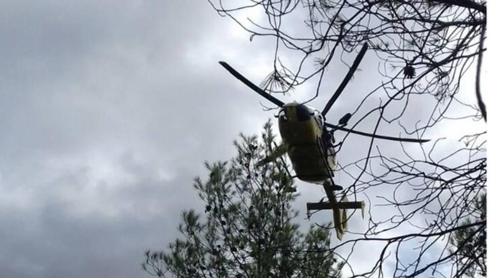 El rescat s'ha efectuat amb helicòpter