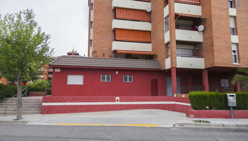 Edifici que es correspon amb els números 14 i 16 del carrer Miquel Servet.