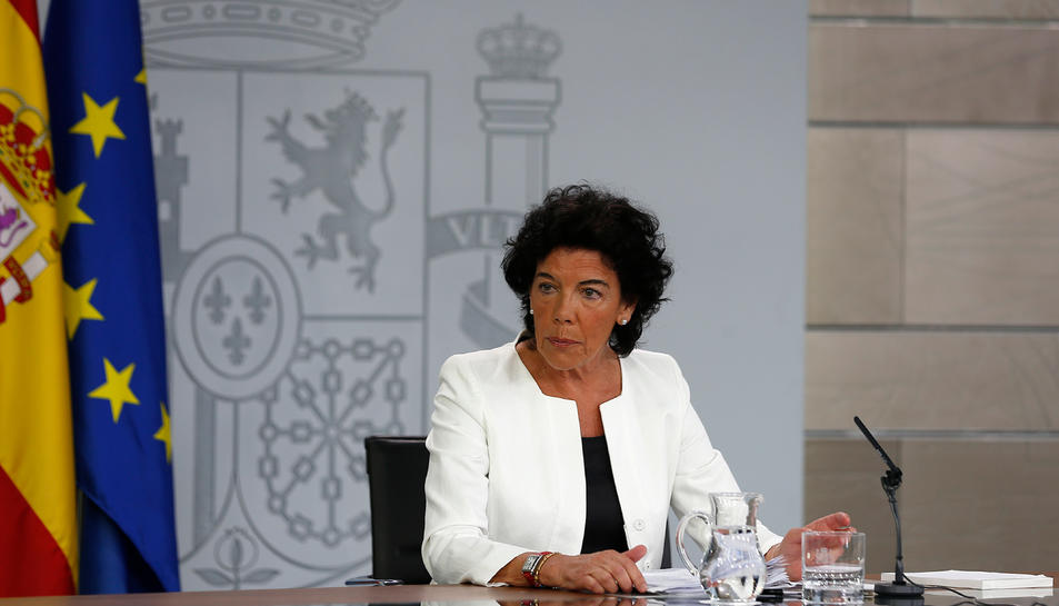 Imatge de la portaveu del govern espanyol, Isabel Celaá.