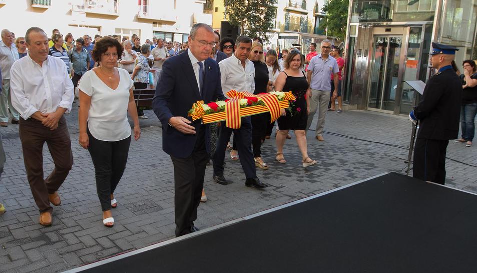 Imatge d'arxiu de l'acte institucional de l'11 de setembre a Reus.