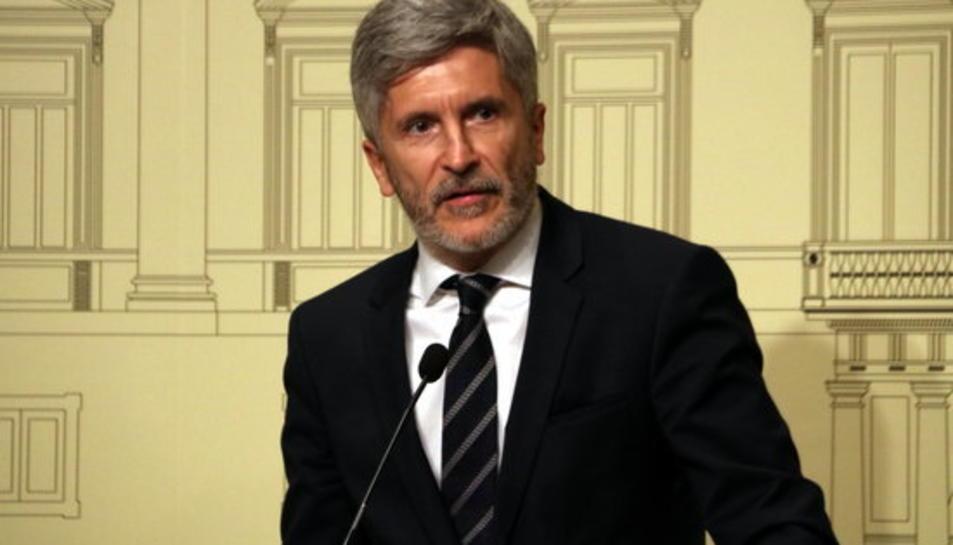 Imatge del ministre d'interior, Fernando Grande-Marlaska.
