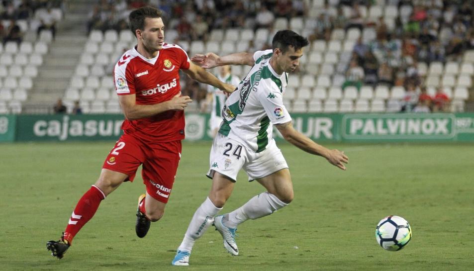 L'exlateral dret del Nàstic Otar Kakabadze, durant l'1-5 aconseguit pel Nàstic a Còrdova la passada temporada.