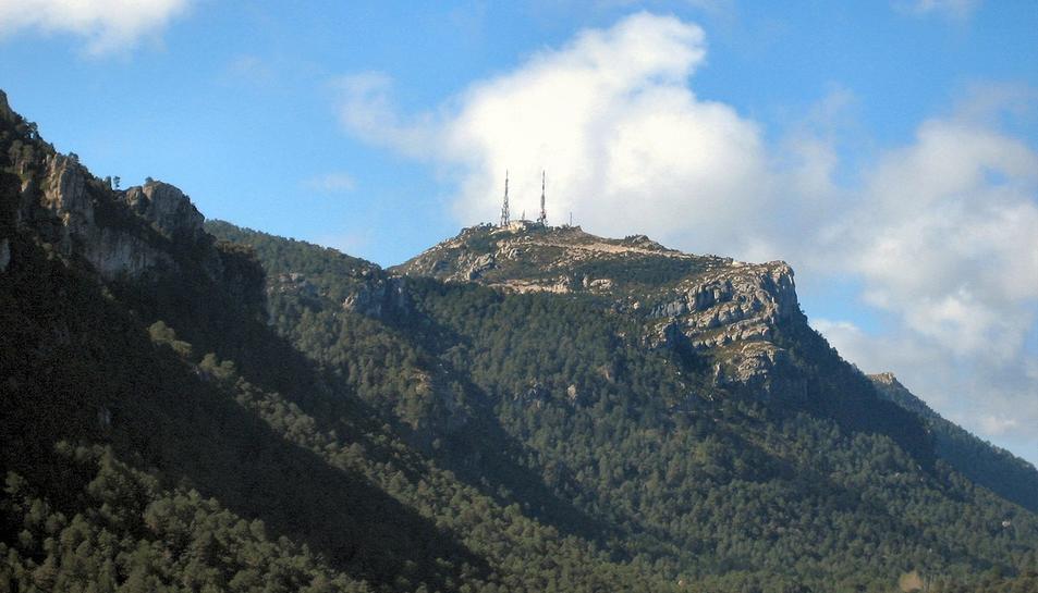 Imatge del Mont Caro, lloc on es va perdre el boletaire de 23 anys.