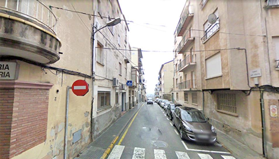 El carrer Sant Sebastià ha estat un dels més afectats per l'avaria.