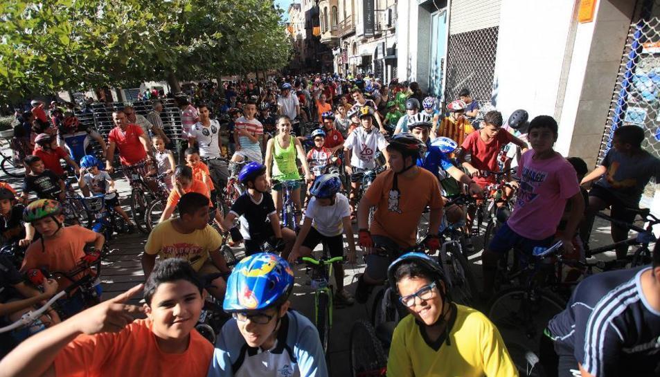 Imatge d'una edició passada de la Festa de la Bicicleta.