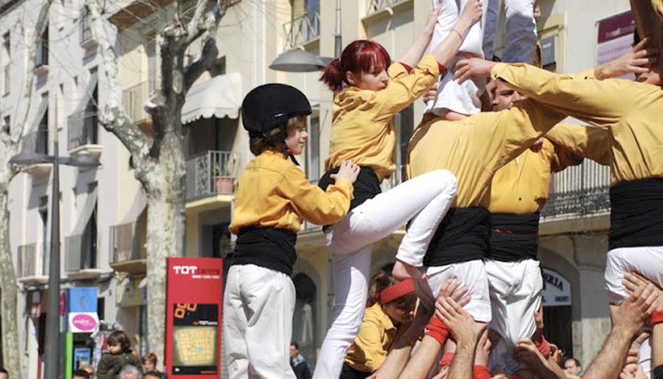 Imatge d'arxiu dels Bordegassos de Vilanova en una actuació-