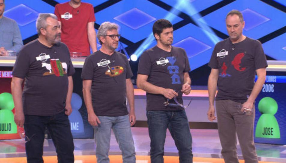 Imatge de l'equip durant un programa.