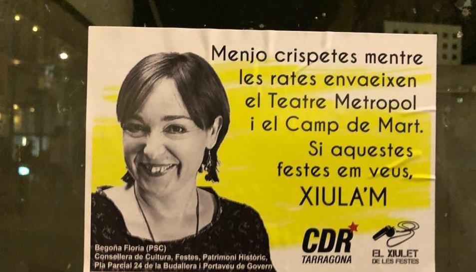 Un dels adhesius que el CDR ha començat a distribuir per la ciutat