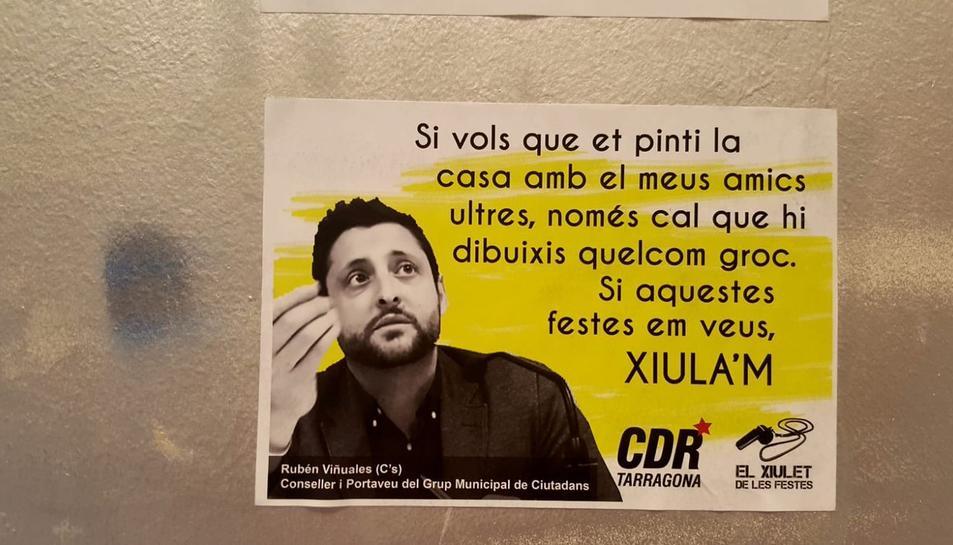 Imatge del cartell amb la imatge de Rubén Viñuales per la campanya