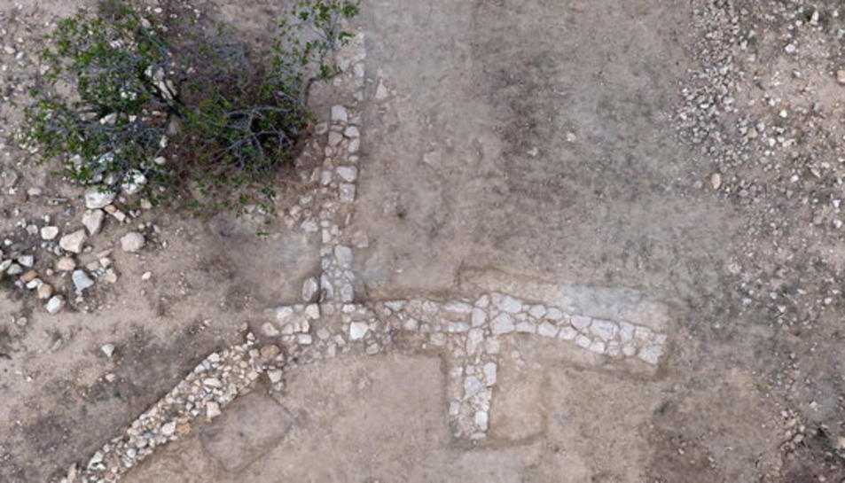 Vista aèria del jaciment dels Tossals d'Aldover.