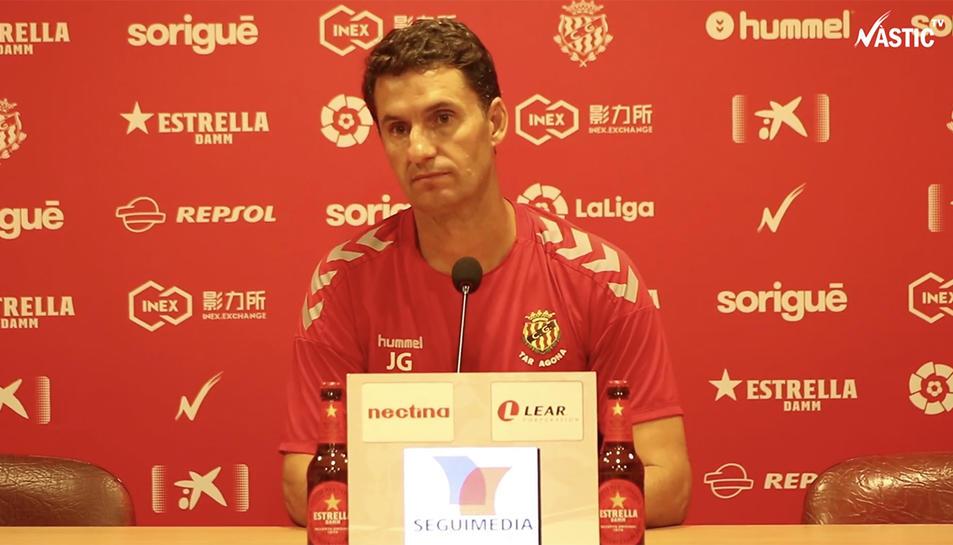 L'entrenador del Nàstic de Tarragona, José Antonio Gordillo.