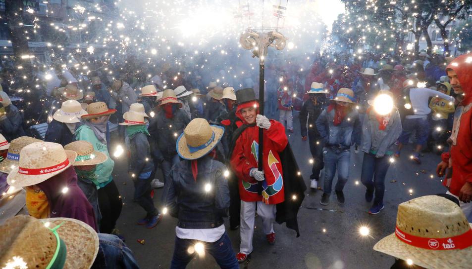 Imatge del Correfoc petit de Santa Tecla 2017.