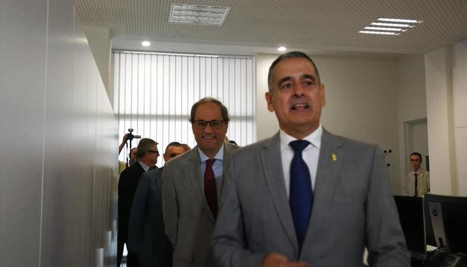 Quim Torra inaugura l'Ajuntament de Llorenç del Penedès