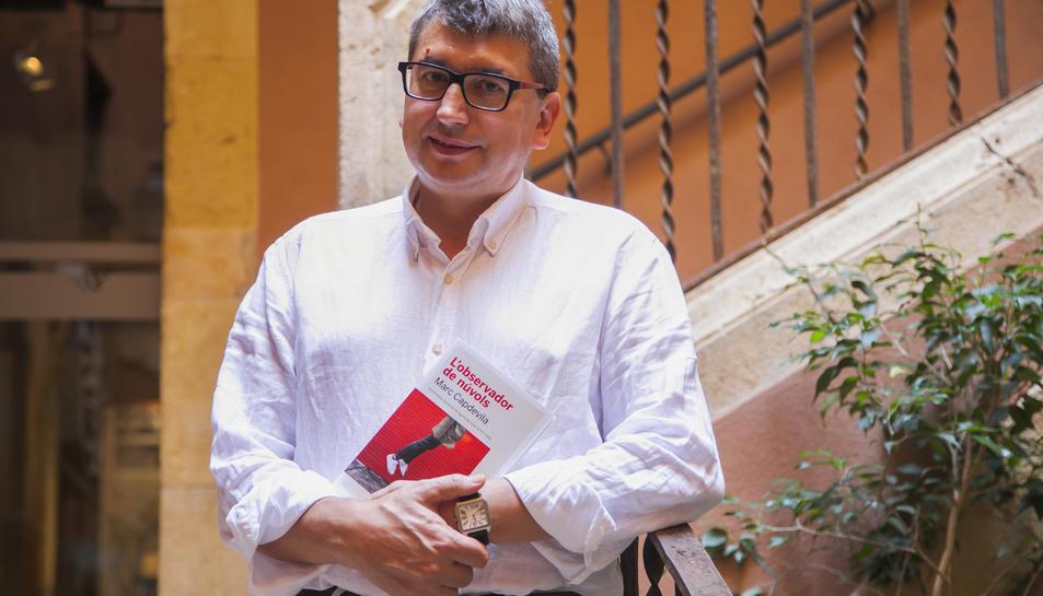 Capdevila a la Casa Castellarnau, el passat dijous, dia en què va presentar el seu llibre a la ciutat.