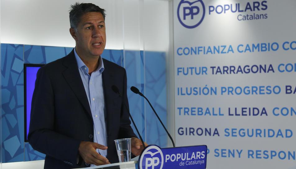Imatge del president del PPC, Xavier García Albiol.