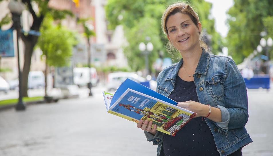 Raquel Sans aquest dimarts a la Rambla Nova de Tarragona.