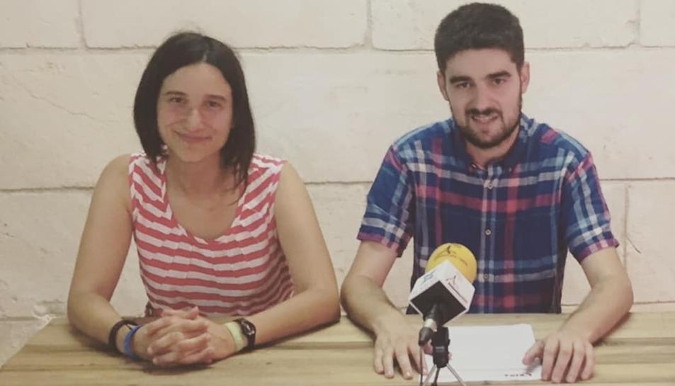 El regidor i actual portaveu d'ERC Altafulla, Jordi Molinera; i la també regidora Alba Muntadas.