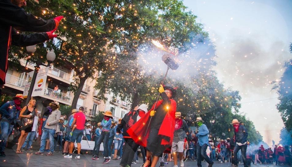 El Correfoc Petit de Santa Tecla va trascòrrer des del capdamunt de la Rambla Nova  fins la plaça Corsini