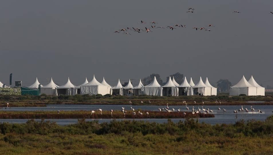 Un dels espais del delta habilitats per al festival