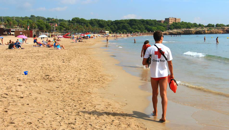 Imatge de la platja de l'Arrabassada.