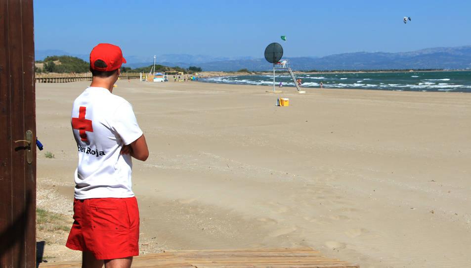 Imatge de la platja Riumar de Deltebre.