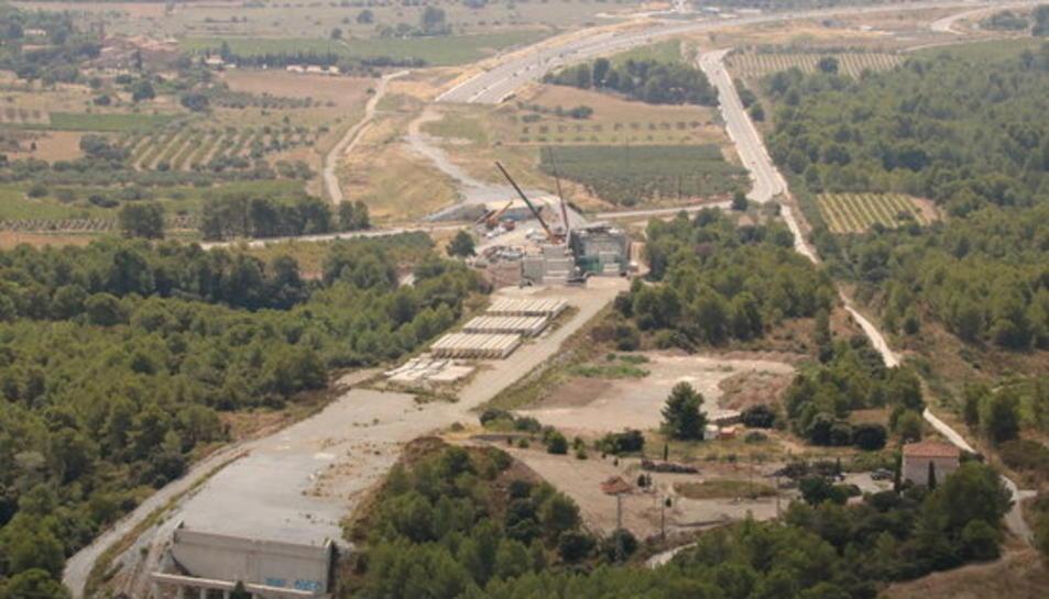 Els treballs de l'A-27 als peus del Coll de Lilla, a cavall entre l'Alt Camp i la Conca de Barberà.