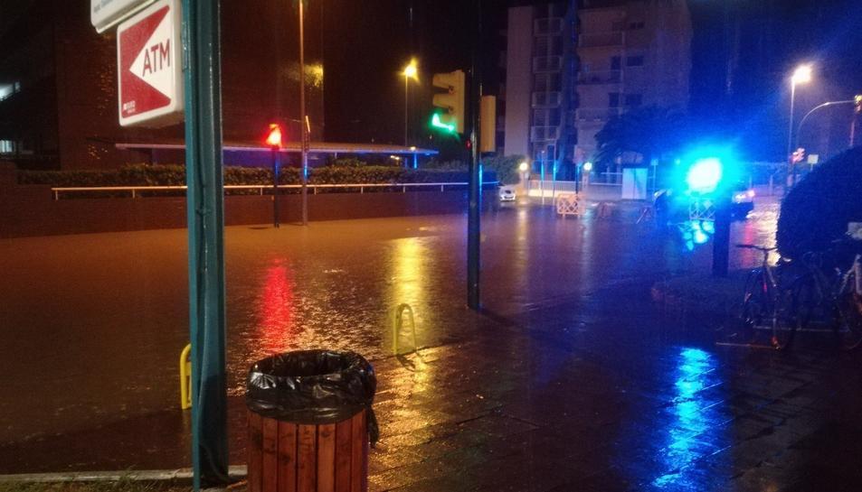 Cambrils també s'ha vist afectada per les fortes pluges.