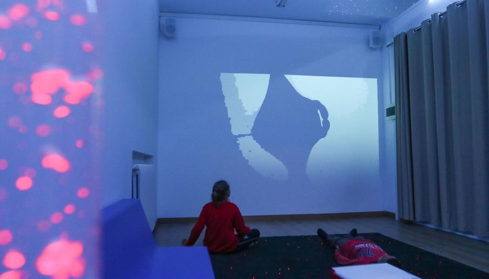 Imatge de la nova aula multisensorial de l'escola.