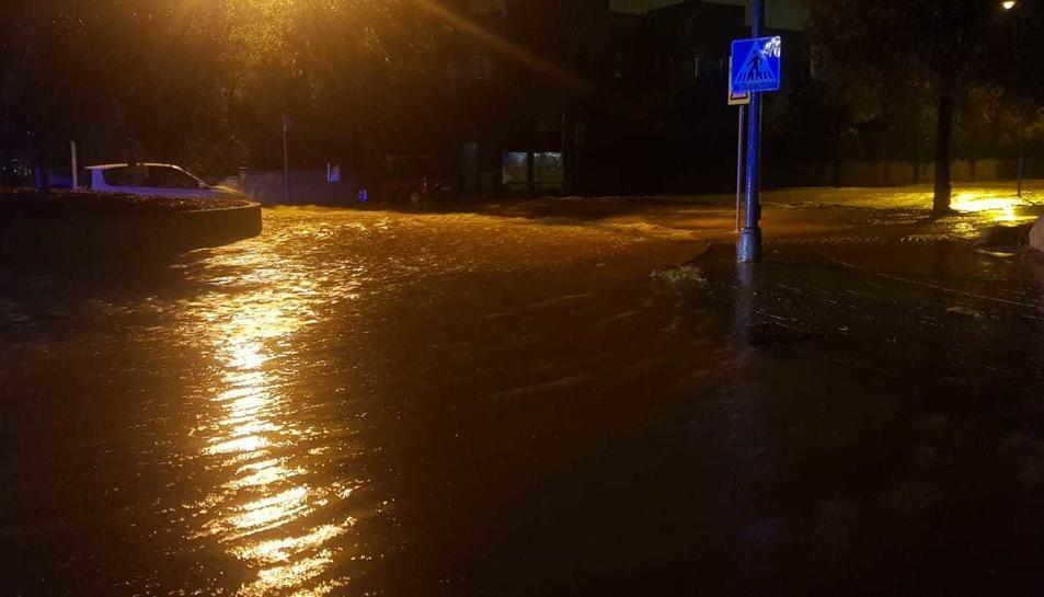 Imatge de les inundacions a Tarragona.