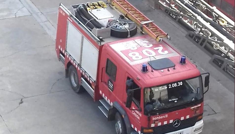 Imatge d'arxiu d'un camió dels Bombers de la Generalitat.