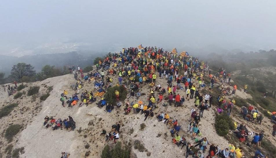 El cim de la Roca Corbatera