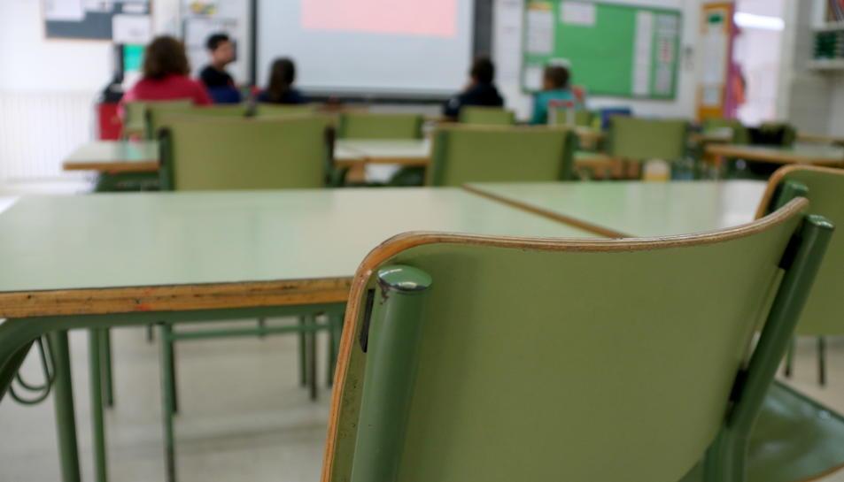 Una aula d'una escola catalana.