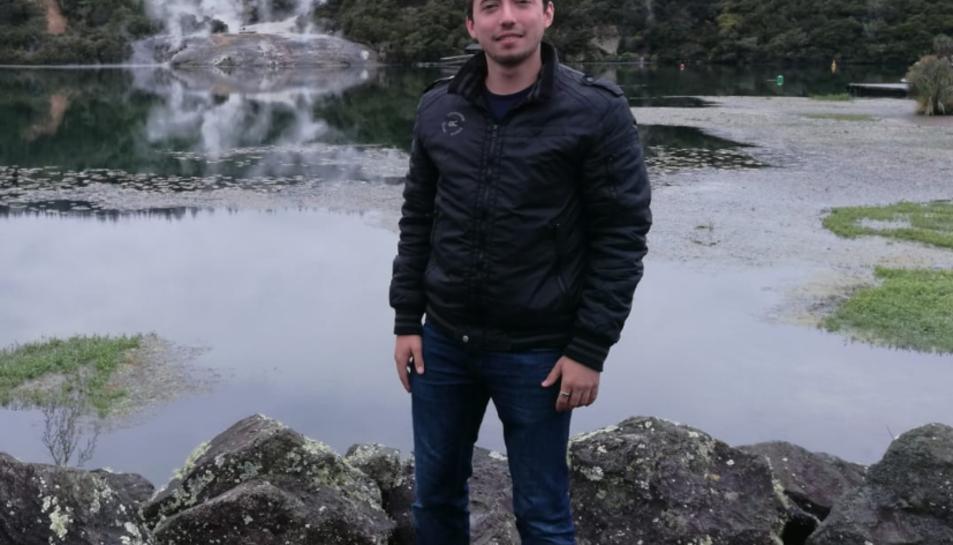 Pablo Solís en una excursió al Orakei Korako Geothermal Park.